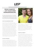 Broschüre Nachsorgeempfehlung Pubertät